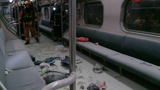 Tajpej, Tajwan - W pociągu wybuchła domowej roboty bomba wykonana z rury stalowej i prochu -6
