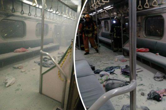Tajpej, Tajwan - W pociągu wybuchła domowej roboty bomba wykonana z rury stalowej i prochu -7