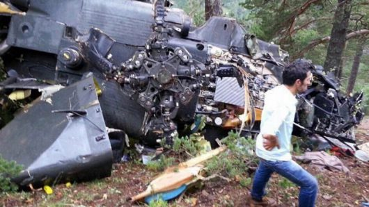 Turcja - Rozbił się wojskowy śmigłowiec, zginęło 7 osób -1