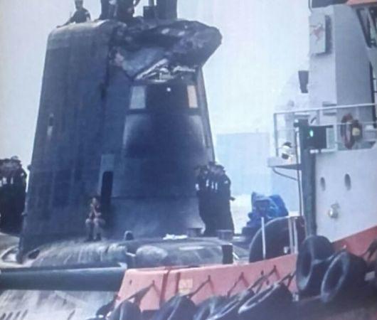 UK - W Cieśninie Gibraltarskiej atomowy okręt podwodny uderzył w tankowiec -3