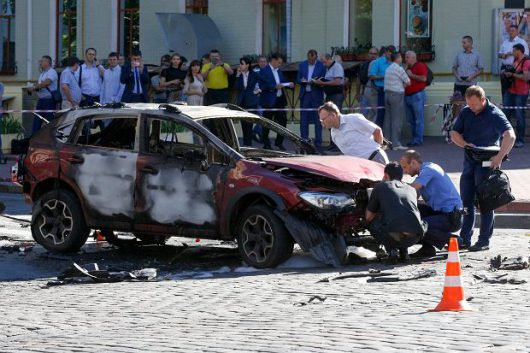 Ukraina - Zamach w Kijowie, zginął dziennikarz Paweł Szeremet -8