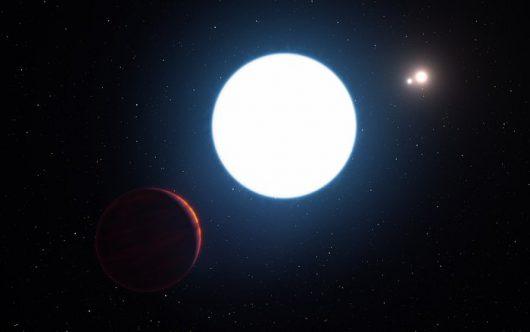 Wizja artysty - widok systemu potrójnej gwiazdy HD 131399 Zdjęcie: ESO