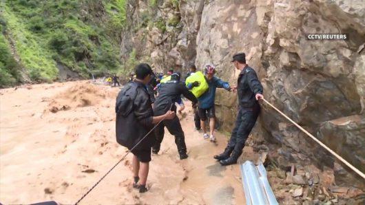 Chiny - Ogromna powódź w Tybecie, największa klęska żywiołowa od 37 lat
