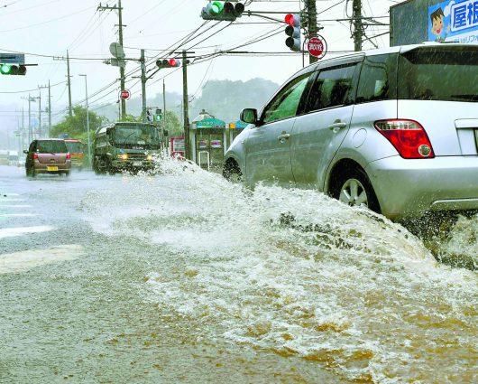 Japonia - Potężny tajfun nad Tokio -1