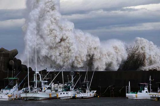 Japonia - Potężny tajfun nad Tokio -5