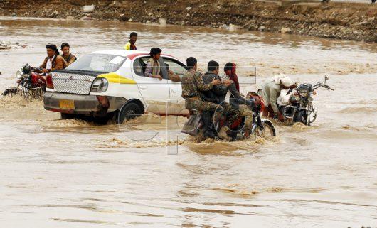 Heavy rains in Yemen
