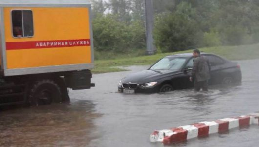 Rosja - Moskwa pod wodą, największa ulewa od 137 lat -4