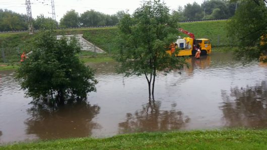Rosja - Moskwa pod wodą, największa ulewa od 137 lat -5