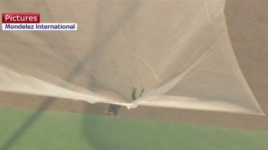 Skoczył bez spadochronu z wysokości 7.6 km, zatrzymał się na siatce rozpiętej na wysokości 60 metrów -3