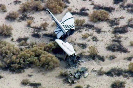 SpaceShipTwo po nieudanym locie