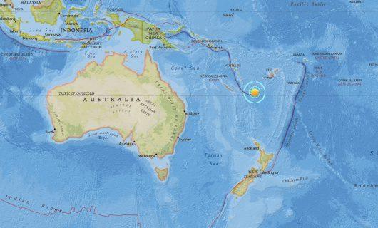 Trzęsienie ziemi - Vanuatu