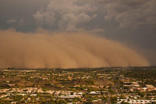 USA - Burza piaskowa przeszła przez Phoenix -1