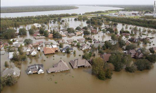 USA - Luizjana pod wodą -1