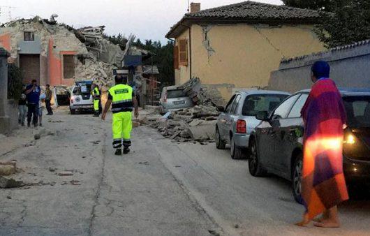 Włochy - Bardzo płytkie i silne trzęsienie ziemi, magnituda 6.2 -10