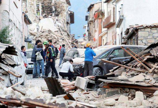 Włochy - Bardzo płytkie i silne trzęsienie ziemi, magnituda 6.2 -14
