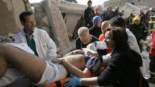Włochy - Bardzo płytkie i silne trzęsienie ziemi, magnituda 6.2 -18