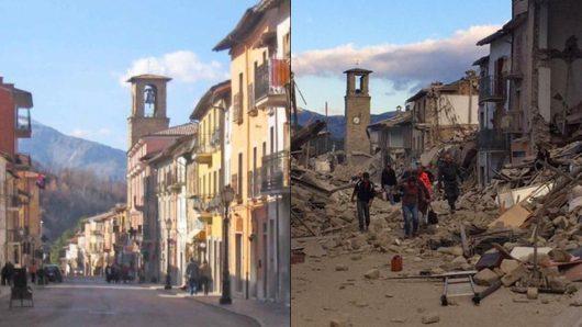 Włochy - Bardzo płytkie i silne trzęsienie ziemi, magnituda 6.2 -20