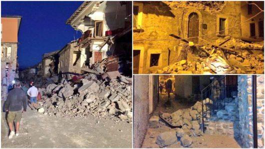 Włochy - Bardzo płytkie i silne trzęsienie ziemi, magnituda 6.2 -5
