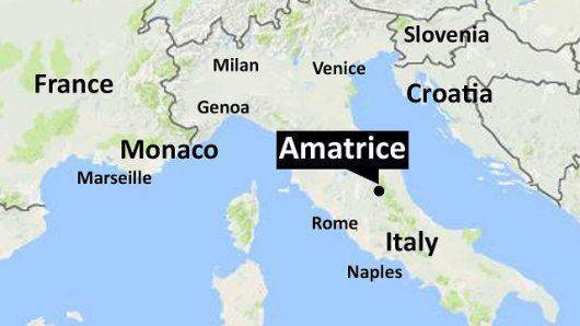 Włochy - Bardzo płytkie i silne trzęsienie ziemi, magnituda 6.2 - 7