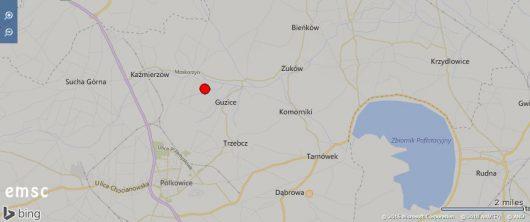 Wstrząs sejsmiczny - Polkowice
