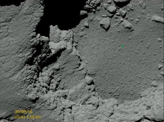Powierzchnia komety 67P/Czuriumow-Gierasimienko. Zdjęcie z piątkowego ranka