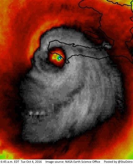 Skan radarowy huraganu Matthew z 4 października