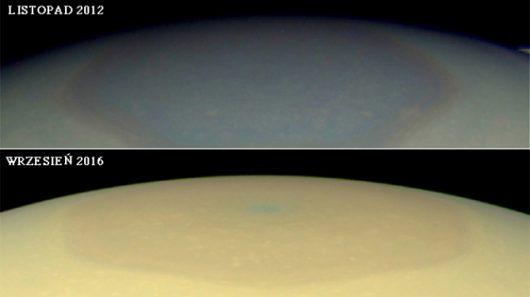 Różne oblicza północnego bieguna Saturna