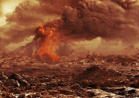 Wenus, wizja arystyczna wulkanu. Źródło: National Geographic