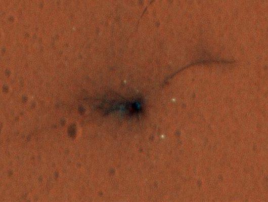 Miejsce upadku Schiaparellego / NASA/JPL-Caltech/Univ. of Arizona /materiały prasowe