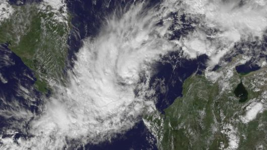 Tropical Storm Otto is pictured forming approximately 175 miles east-southeast of San Andreas Island in the Caribbean Sea in this  satellite handout photo