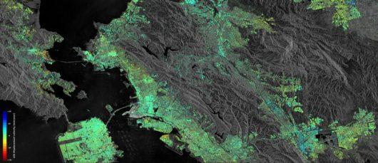Przemieszczenie gruntu w Zatoce San Francisco