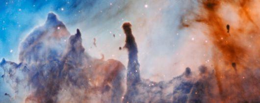 Rejon R44 Mgłąwicy Carina około 7500 lat świetlnych od Słońca. /ESO/A. McLeod /materiały prasowe