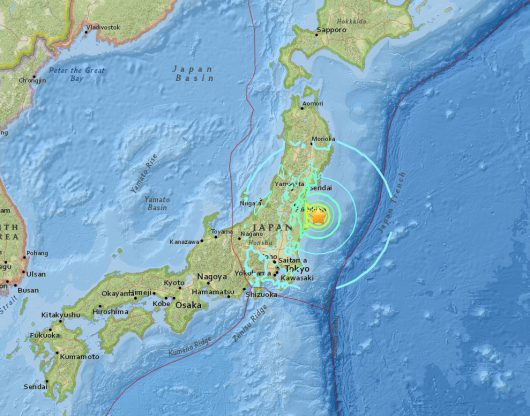 Silne trzęsienie ziemi w Japonii, magnituda 7.3, jest ostrzeżenie o tsunami z falą o wysokości do 3 metrów [Live video]