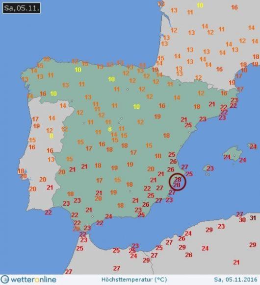 W Alicante w sobotę było aż 28 st. C