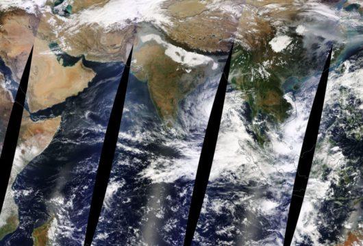 Zdjęcie satelitarne z 9 grudnia