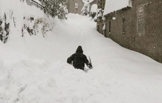 Grecja zasypana śniegiem, nawet w miejscach, gdzie śnieg pada wyjątkowo rzadko
