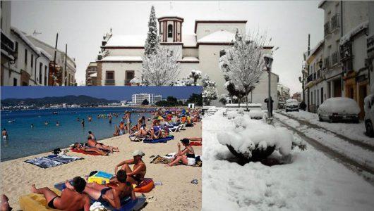 Hiszpania – W zaledwie kilka godzin temperatura z 28 st.C. spadła do 2 st.C., z lata zrobiła się zima, w Alicante w ciągu doby spadło 150 l/mkw i wystąpiła największa powódź od 20 lat