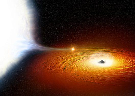 W naszej galaktyce zaobserwowano prawdopodobnie najciaśniejszy z układów podwójnych z czarną dziurą, biały karzeł krąży dookoła czarnej dziury po orbicie o promieniu zaledwie miliona kilometrów