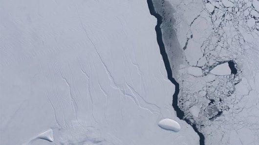 Antarktyka – Od lodowca Larsena oderwał się potężny kawał lodu o powierzchni około 6 tysięcy kilometrów kwadratowych