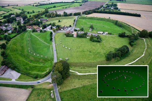 UK – Odkryto megality wewnątrz kręgu w Avebury