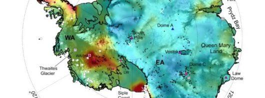Antarktyda – Opracowano mapę pokazującą, jak dużo ciepła z wnętrza Ziemi dociera do podstawy pokrywy lodowej