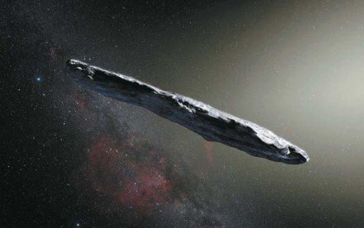 Tajemniczy obiekt o niezwykłym kształcie przyleciał do nas z przestrzeni międzygwiezdnej, Oumuamua obecnie znajduje się w połowie drogi do Jowisza