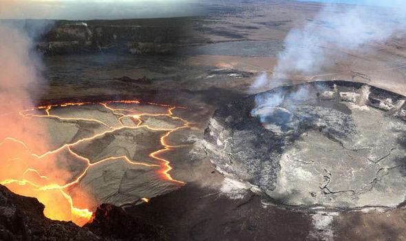 Wulkan Kilauea Na Hawajach Jest Bardzo Aktywny Jezioro
