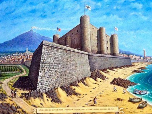 Castello Ursino przed erupcją...