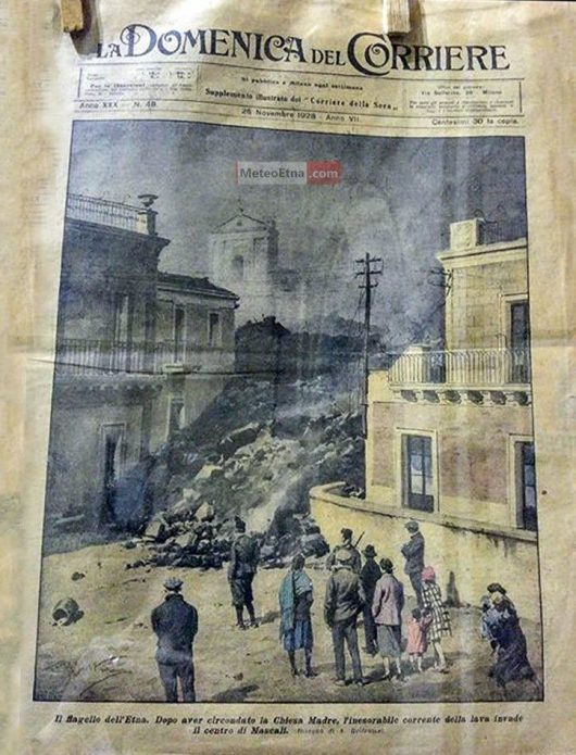 Strona główna gazety La Domenica del Corriere z 2 listopada 1928 r. - via Meteo Etna