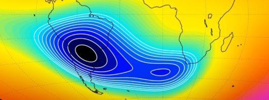 Powoli rozdziela się Anomalia Południowoatlantycka, oznacza to, że zachodzą ciągłe zmiany w polu magnetycznym Ziemi