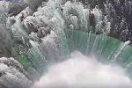 Fascynujący film wodospadu Niagara z perspektywy drona