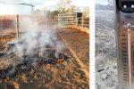 Mount Denison, Australia - Ziemia tak gorąca, że zaczyna się żarzyć ściółka, farmer usmażył jajko na ziemi