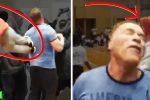 Johannesburg, RPA - Arnold Schwarzenegger oberwał kopniaka w plecy [Video]